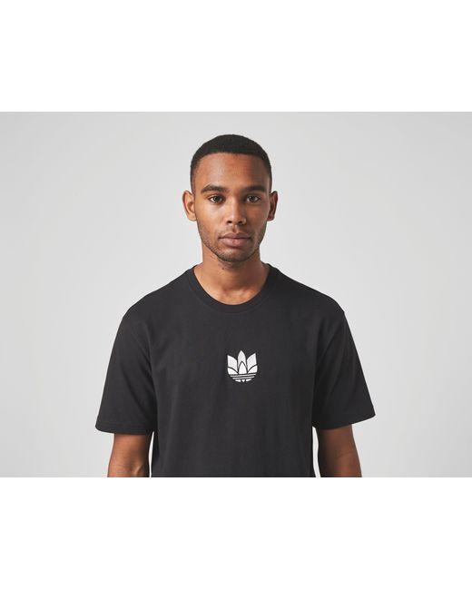 3D Trefoil T-Shirt Adidas Originals de hombre de color Black