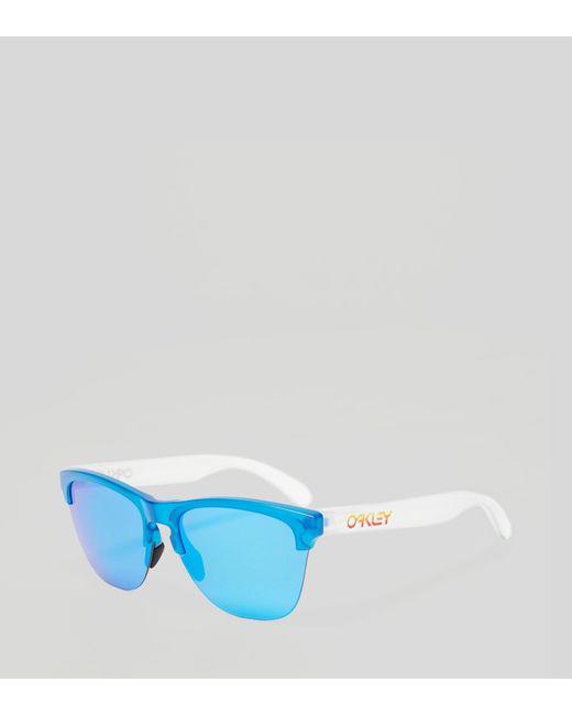 b842a447c47a ... ruby iridium 257fa d3d03  czech oakley white frogskins lite sunglasses  for men lyst bd716 21a6c