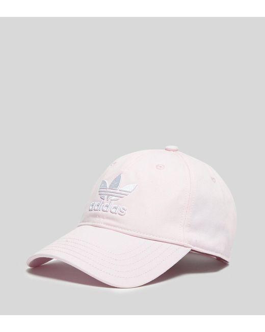 582f721c874 Adidas Originals - Pink Trefoil Cap - Lyst ...