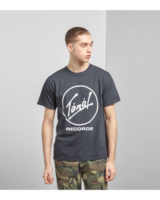 TONAL - Black Records T-shirt for Men - Lyst