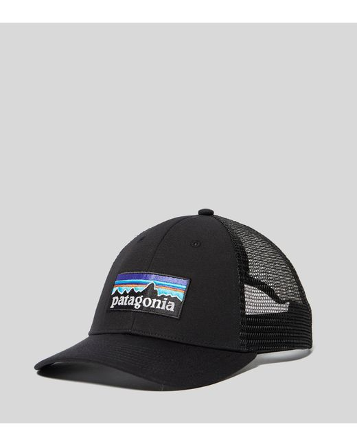 3ad81bd781d Patagonia - Black P-6 Lopro Trucker Cap for Men - Lyst ...