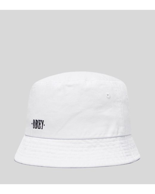 Obey - White Respect Bucket Hat for Men - Lyst