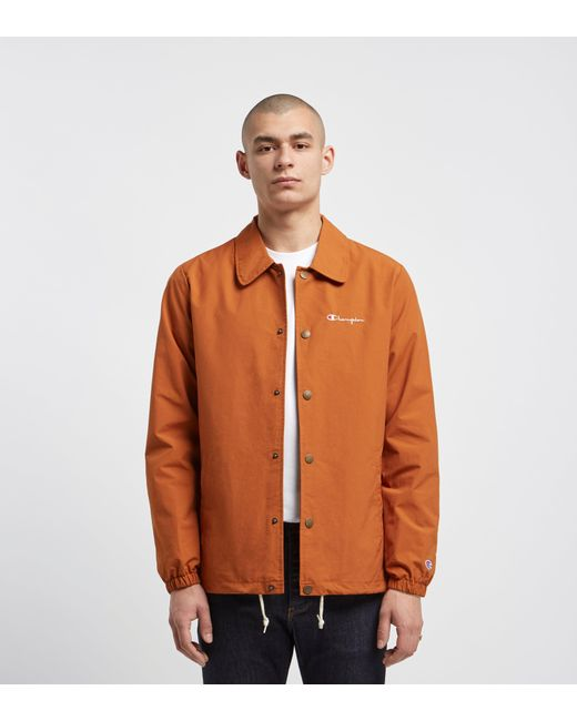d467961e0 Men's Orange Ripstop Coach Jacket