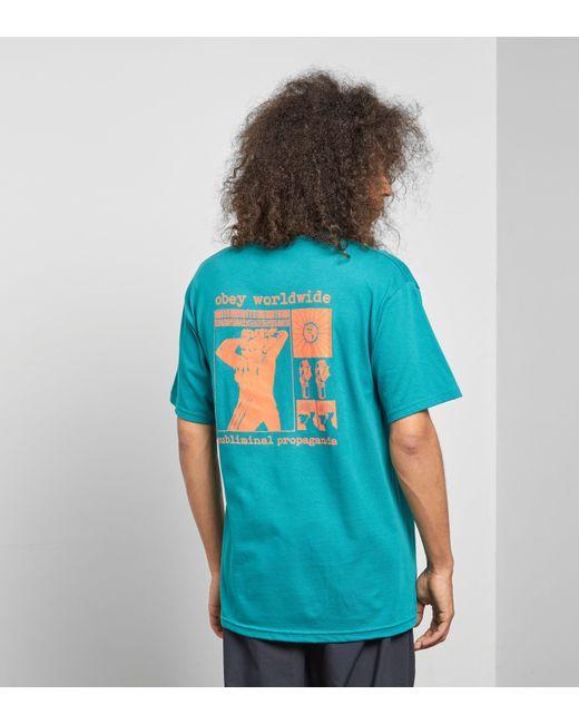 Obey - Green Subliminal Propaganda T-shirt for Men - Lyst