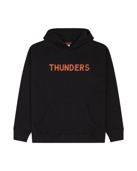 THUNDERS - Core Logo Hooded Sweatshirt Black/red for Men - Lyst