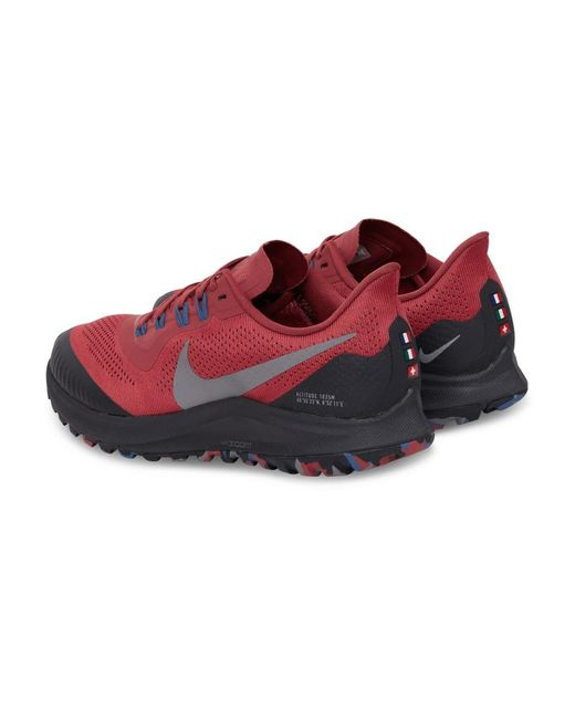 Nike Rubber Pegasus Trail Sneakers in Red - Lyst
