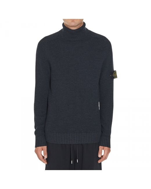 stone island pullover in gray for men grey lyst. Black Bedroom Furniture Sets. Home Design Ideas