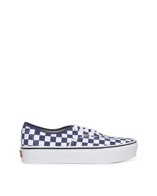 fafa5a558a Vans Wmns Authentic Platform 2.0 Sneakers in Blue - Save 62% - Lyst
