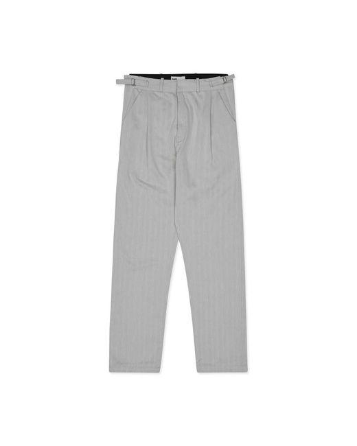 GmbH - Gray Tarek Classic Pleated Trousers Light Grey for Men - Lyst