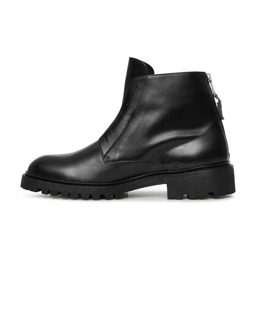 ef9998cbd3e5 ... 424 - Black High Top Laceless Boots - Lyst ...