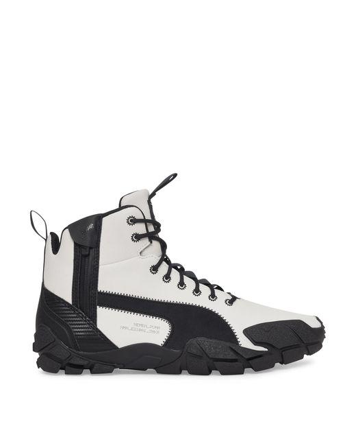 PUMA Black Nemen Centaur Mid Leather Sneakers for men