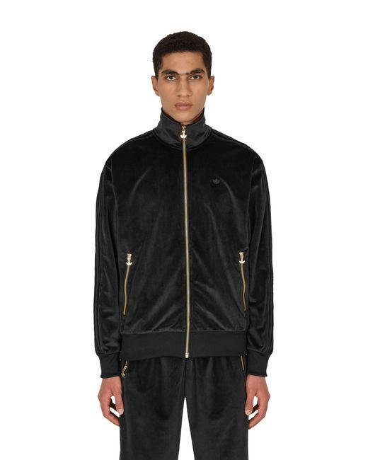 Adidas Originals Black Adicolor Velour Track Top for men