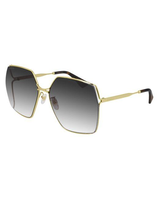 Gucci Metallic GG0817S 001 Women's Sunglasses
