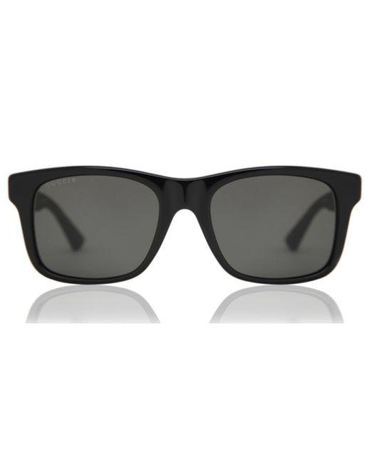 Gucci Black GG0008S Polarized 002 Sunglasses for men