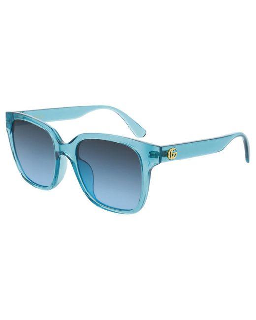 Gucci GG0715SA Asian Fit 005 Women's Sunglasses Blue