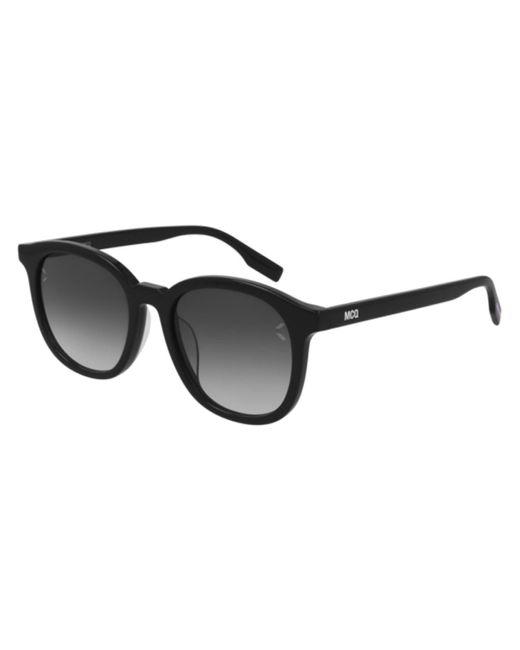 McQ Alexander McQueen Black Mq0303sk Asian Fit 001 Women's Sunglasses