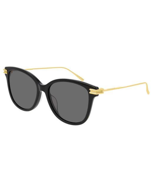 Bottega Veneta Black Bv1048sa Asian Fit 001 Women's Sunglasses