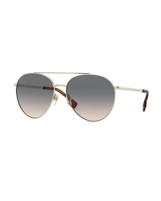 Burberry Metallic Be3115 Gloucester 1109g9 Women's Sunglasses Gold
