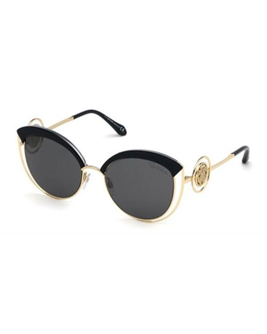 Sunglasses Roberto Cavalli RC 1050 Chitignano 01C shiny black smoke mirror