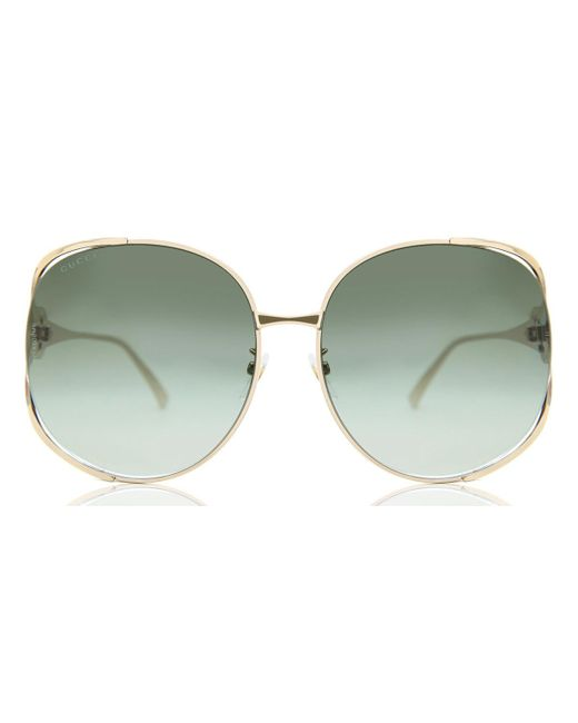 Gucci Green 0225/s Round Sunglasses