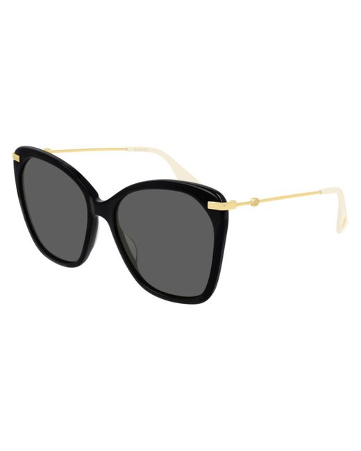 Gucci Cat-eye Sunglasses In Brown Acetate With Brown Lenses