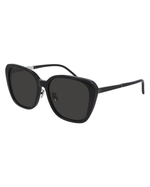 Saint Laurent Black Sl M78/f Asian Fit 001 Women's Sunglasses