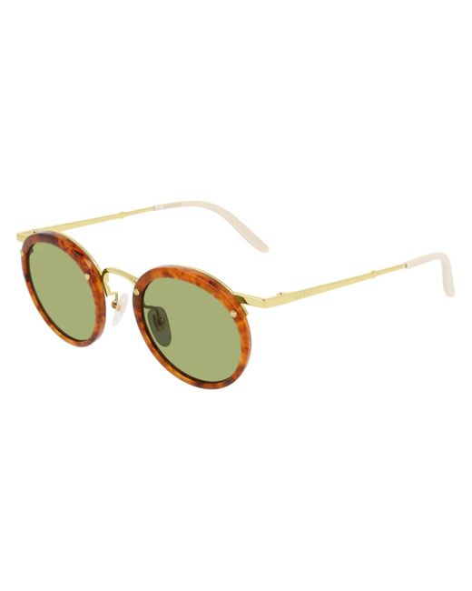 Gucci Multicolor Tortoiseshell Round-frame Sunglasses for men