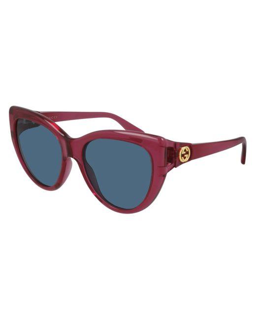 Gucci GG0877S 004 Women's Sunglasses Red