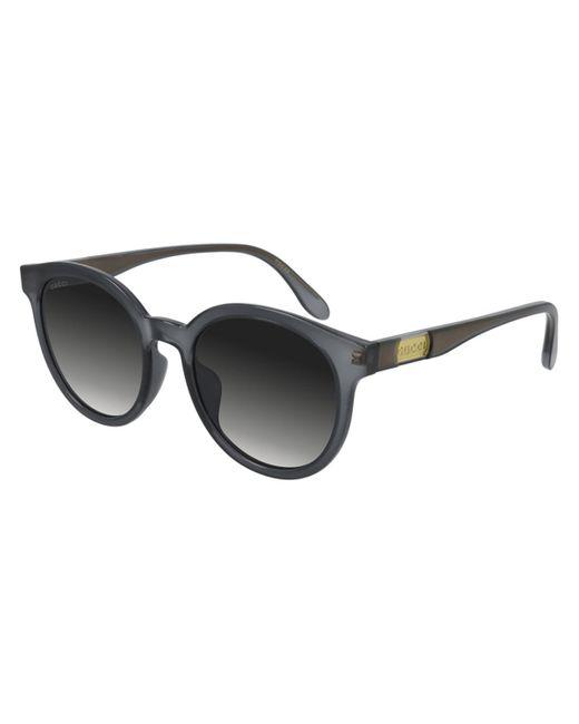 Gucci Gray GG0794SK Asian Fit 001 Women's Sunglasses Grey
