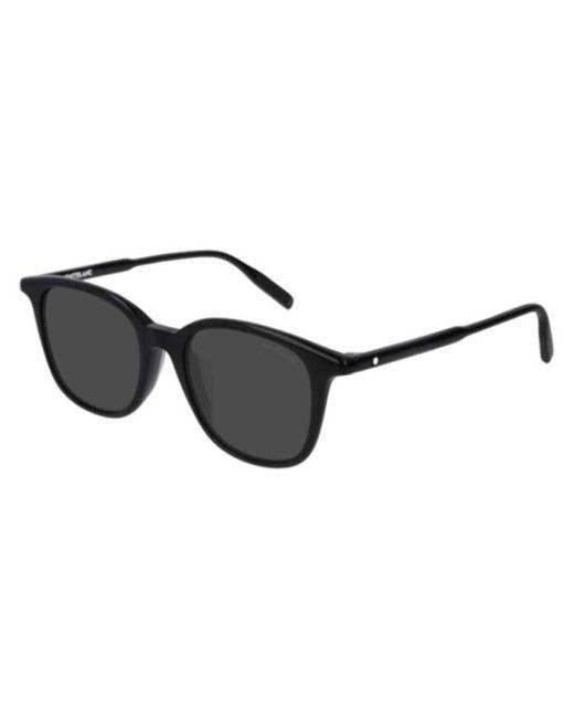 Montblanc Black Mb0006sa Asian Fit 001 Sunglasses for men