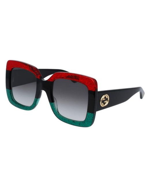 80b86a0f0 Gucci 55mm Oversized Square Colorblock Sunglasses - Save 42% - Lyst