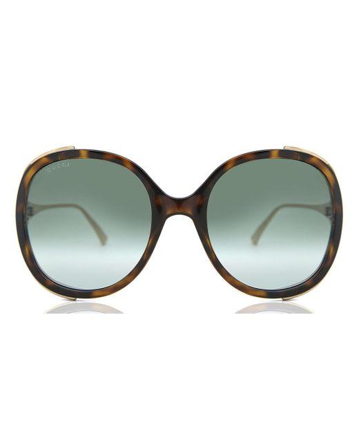Gucci Green GG0226S 003 Women's Sunglasses