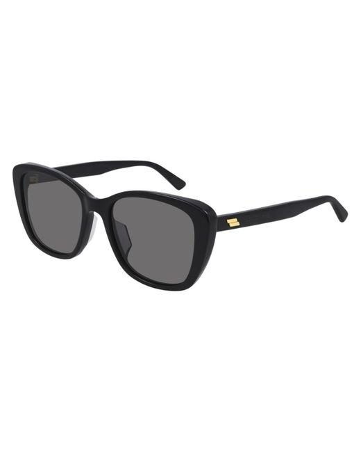Bottega Veneta Black Bv 1079sk Asian Fit 001 Women's Sunglasses