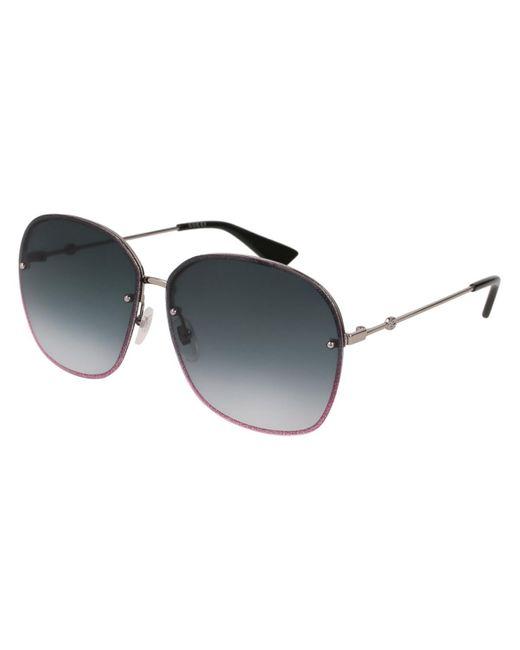 Gucci Gray GG0228S 004 Women's Sunglasses Grey