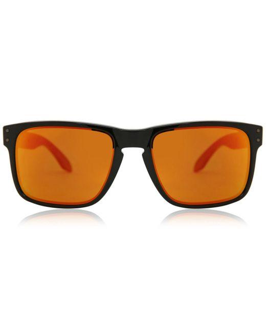 Oakley Orange Oo9102 Holbrook Polarized 9102f1 Sunglasses Black for men