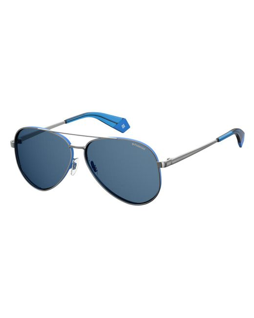 Polaroid Metallic Pld 6069/s/x Polarized V84/c3 Women's Sunglasses Blue