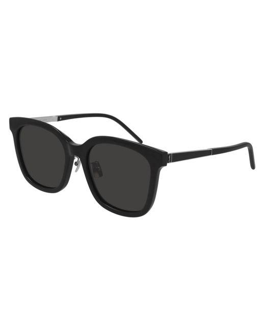 Saint Laurent Black Sl M77/k Asian Fit 001 Women's Sunglasses