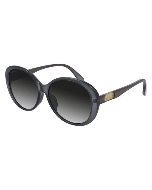 Gucci Gray GG0793SK Asian Fit 001 Women's Sunglasses