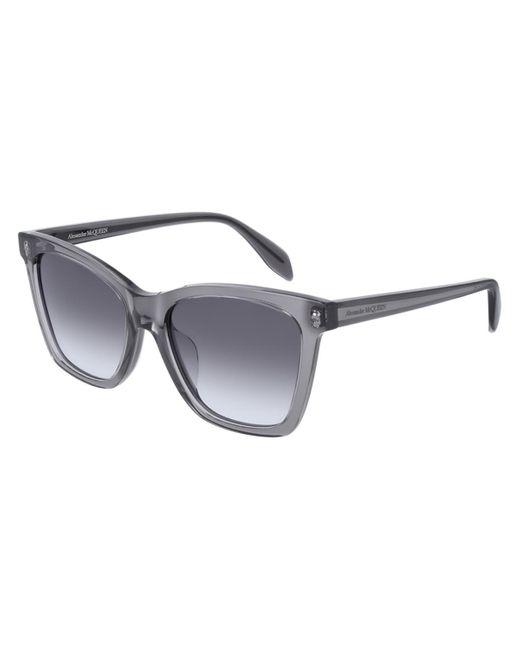 Alexander McQueen Gray Am0238sa Asian Fit 001 Women's Sunglasses