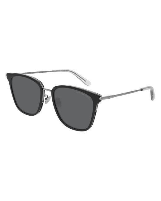 Bottega Veneta Black Bv0261sk Asian Fit 001 Sunglasses for men