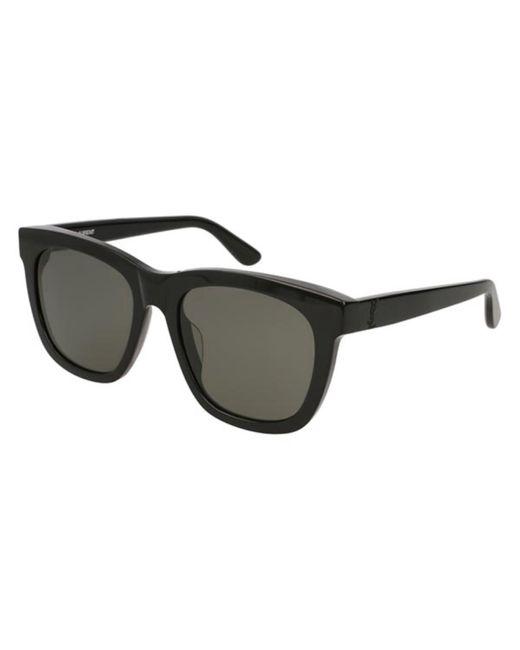 Saint Laurent Black Sl M24/k Asian Fit 001 Sunglasses for men
