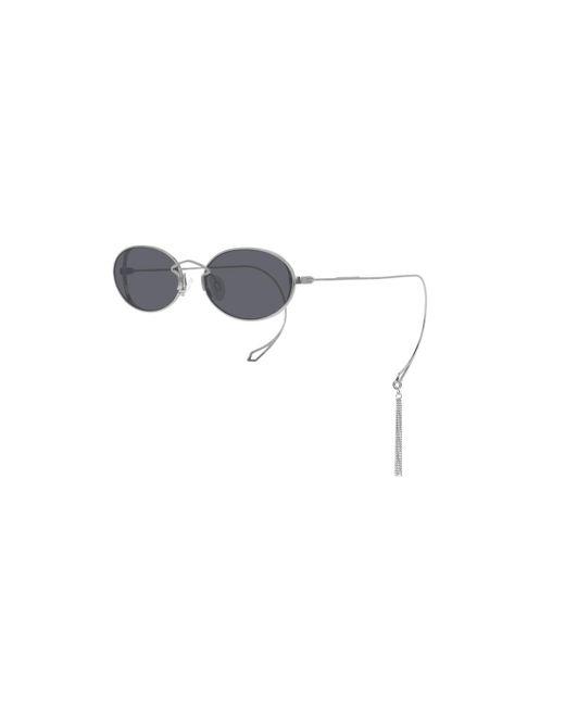 McQ Alexander McQueen Metallic Mq0272sa Asian Fit 001 Women's Sunglasses