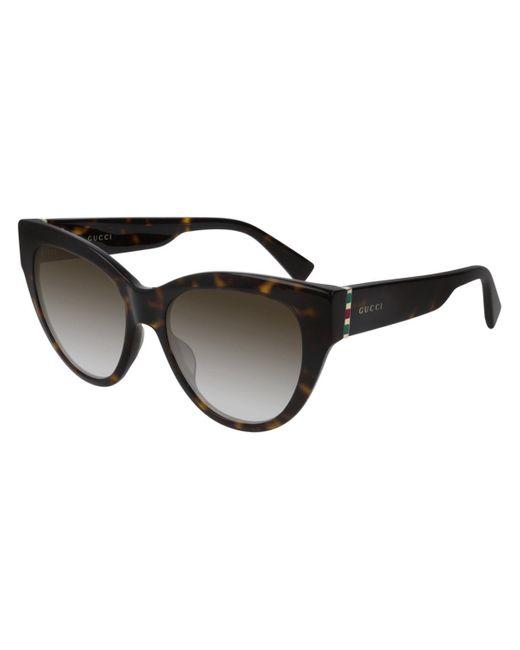 Gucci Brown GG0460S 002 Women's Sunglasses Tortoise