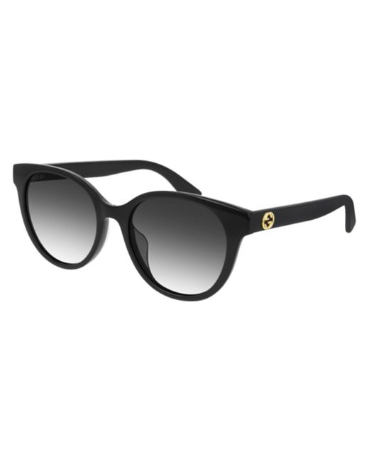 Gucci Black GG0702SK Asian Fit 001 Women's Sunglasses