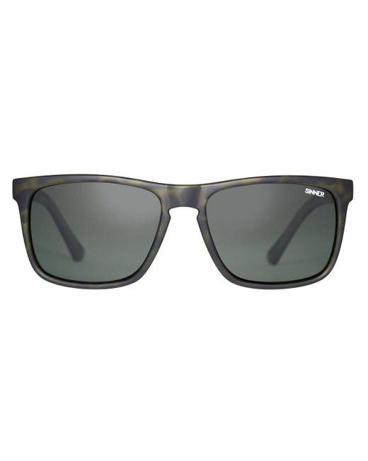 Sinner Green Oak Sisu-719 Asian Fit Polarized 75-p20 Sunglasses for men