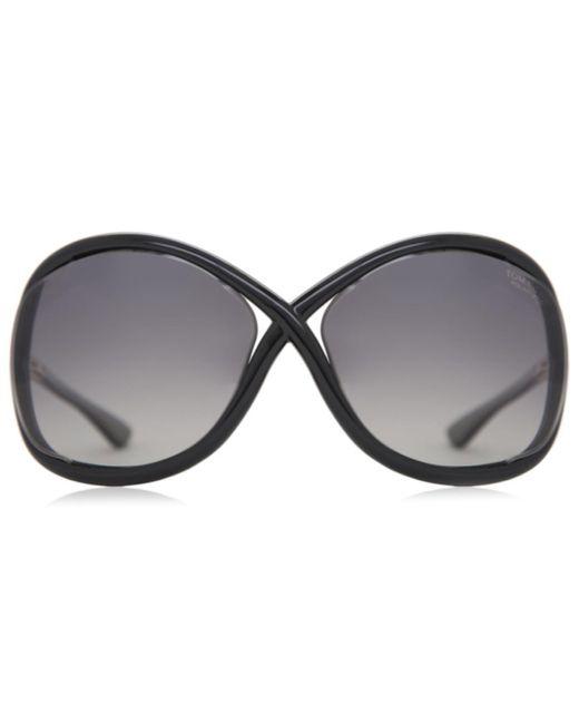 Tom Ford Black Ft0009 Whitney Polarized 01d Women's Sunglasses