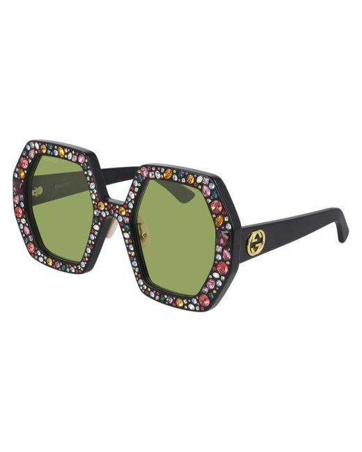 Gucci Multicolor GG0772S 010 Women's Sunglasses Black