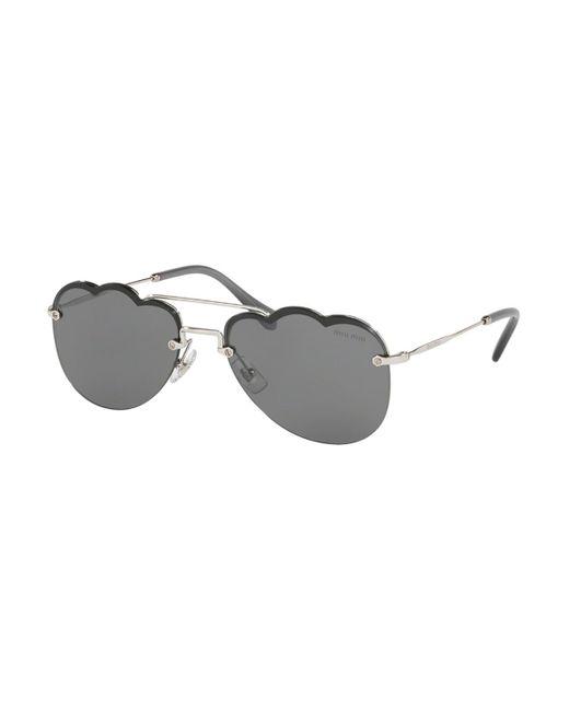 Miu Miu Metallic Mu56us 1bc175 Women's Sunglasses