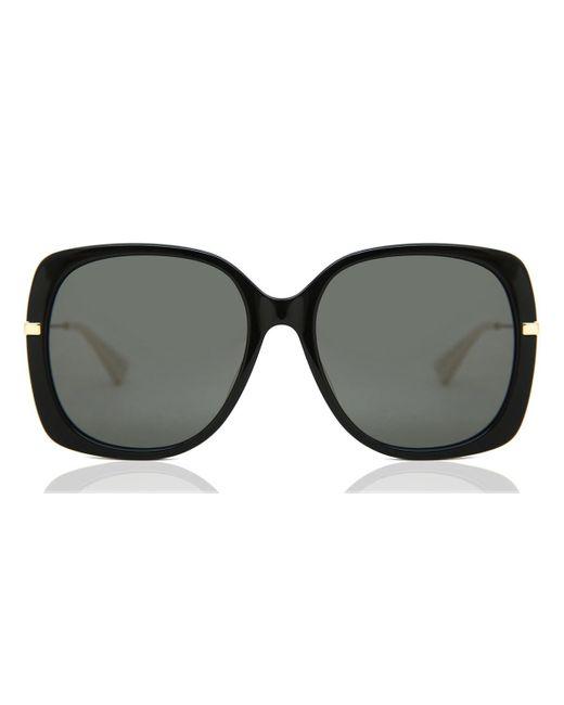 Gucci Square Sunglasses In Black Acetate With Grey Lenses
