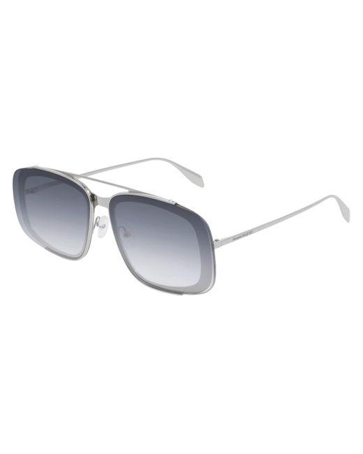 Alexander McQueen Metallic Am0252s 004 Sunglasses for men